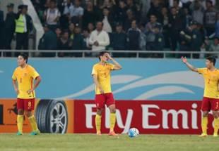 世预赛:中国队输乌兹别克斯坦队