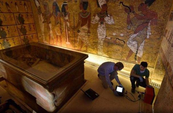雷达扫描显示图坦卡蒙墓室中不存在隐藏密室