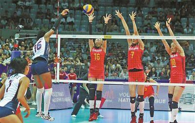 中国队3:0胜多米尼加队