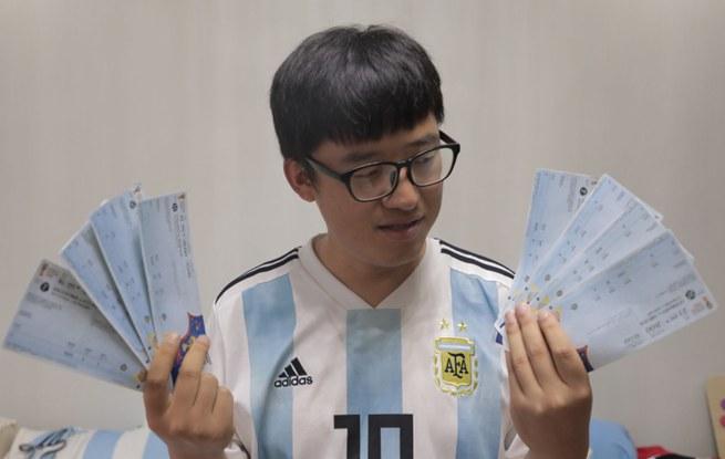 一位远赴世界杯现场的杭州球迷