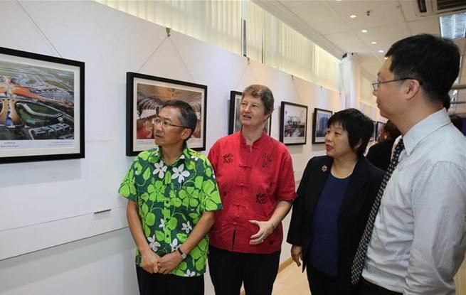 中国当代建筑图片展在斐济举行