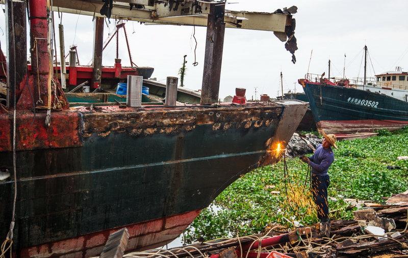 舟山大力整治船厂污水