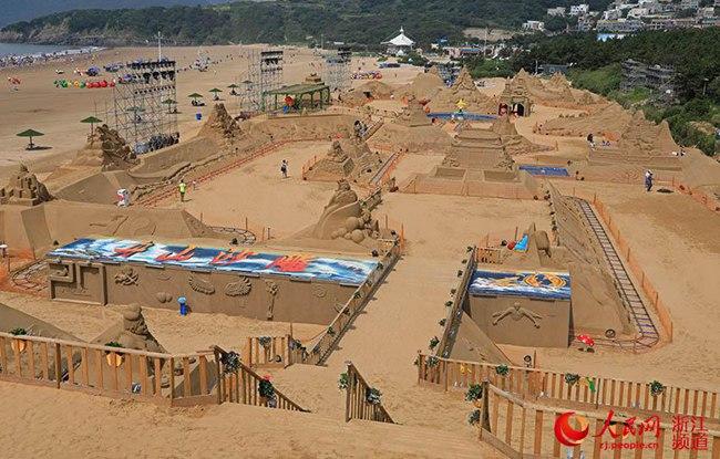 第二十届中国舟山国际沙雕节开园(组图)