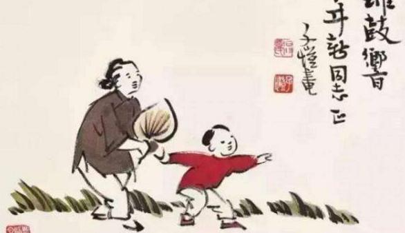 展慈孝之美护生之善 子恺漫画透露温情