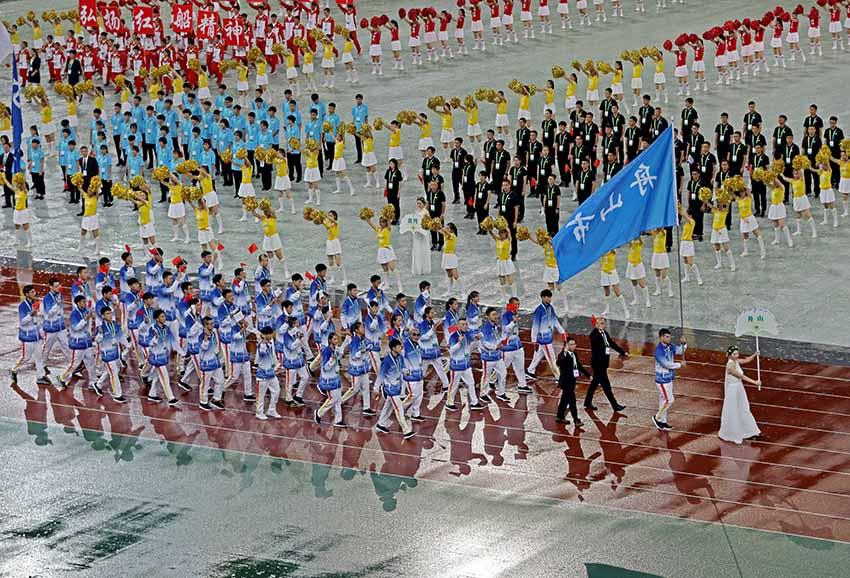 浙江省第十六届运动会在湖州开幕