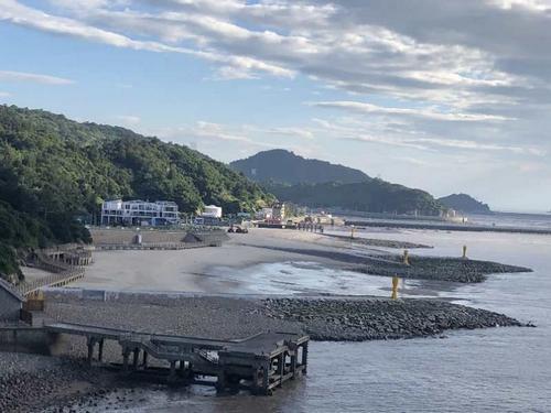 浙南最大人工沙滩即将上线 温州洞头夏日旅游再添新地标