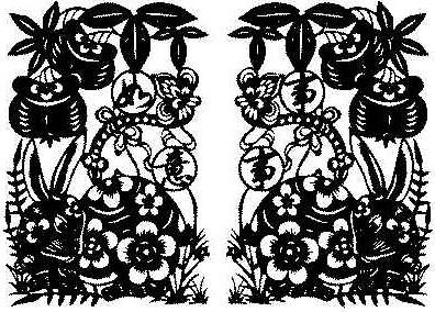 剪纸图片来至好博客; 兔年剪纸之兔年剪纸大全;